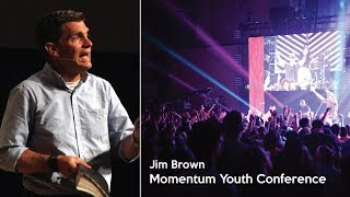 Jim Brown Speaking During a 2017 Momentum Youth Conference Main Session