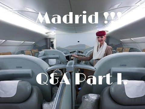 Emirates Cabin Crew - Madrid!! Part 1 Q&A!!