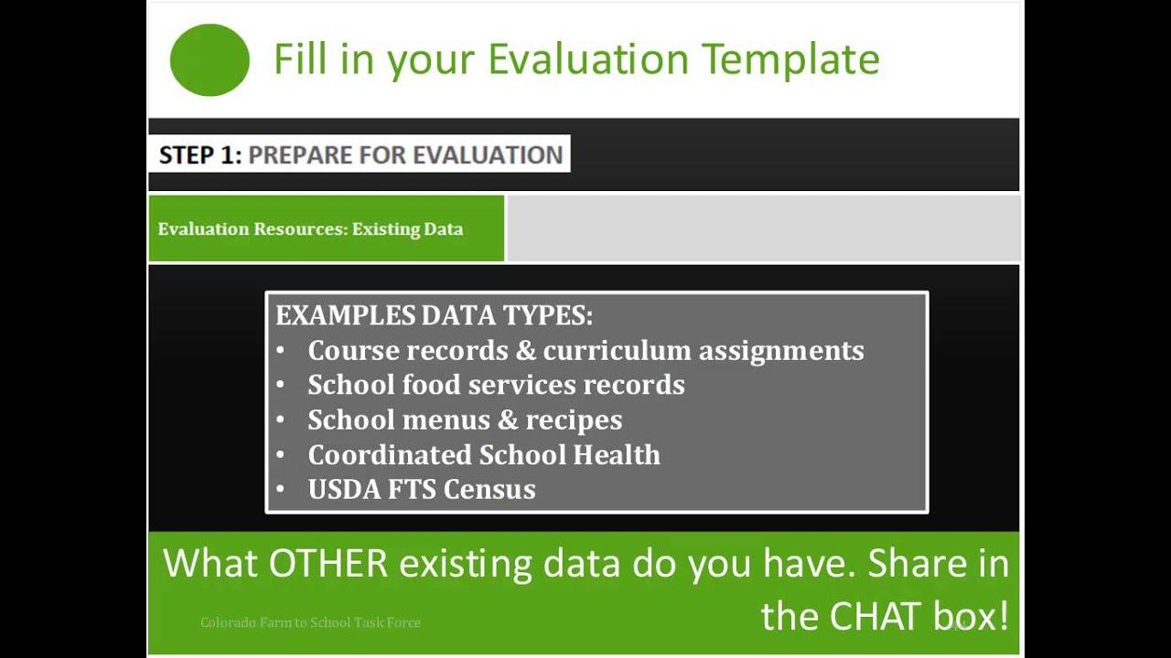 Evaluation Toolkit Training Webinars | Colorado Farm to School