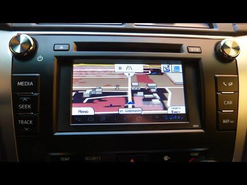 Прошивка GPS навигации в Toyota Camry V50 2013/2014/2015. Установка карт IGO Украина+Европа