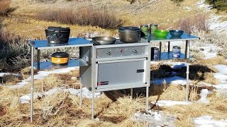 Setup & Breakdown: The Camp Kitchen w/Stove, by Trail Kitchens