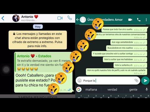 si lloras pierdes* Solo fue un sueño* La conversación de Whatsapp más triste del mundo