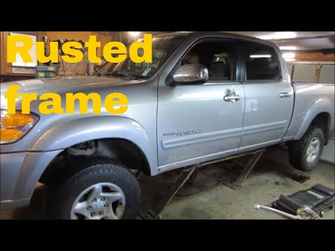 toyota tundra rusted  frame repair update 2 winters later.