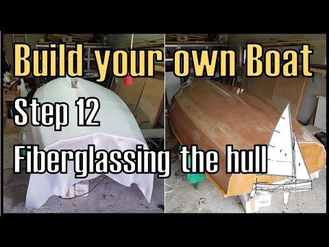 Wooden Boat Building Step 12: Fiberglassing the Hull