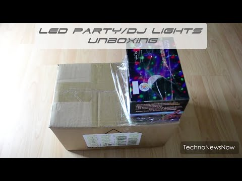 LED DJ Party Lights Unboxing Mini RGB LED Crystal & Music Active Moon Flower LED Lights