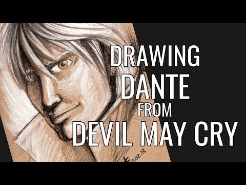 Drawing Dante from Devil May Cry