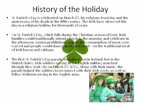 history of st patricks day essay The scholarship behind the annual st patrick's day celebration of irish americans.