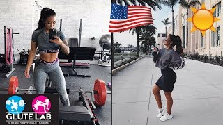 Booty Workout in The Glute Lab   San Diego Vlog #1