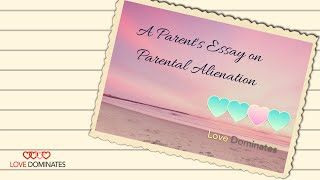 APRIL 25TH National Awareness Day for Parental Alienation (Surviving Parental Alienation)