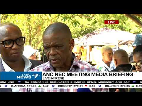 Ace Magashule briefs media on ANC NEC meeting