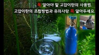 수초 어항에 필요한 고압 이산화탄소(고압이탄co2) 조…