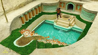 Build The Most Creative Modern Underground Empire Swimming Pool & Searching Ground Water