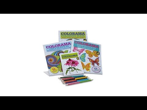 Colorama Coloring Books Collection With Pencils