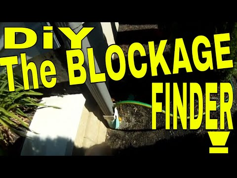 Find BLOCKAGE  Downspout drain  TROUBLESHOOTING  Yard Drain  DIAGNOSIS underground roof drain