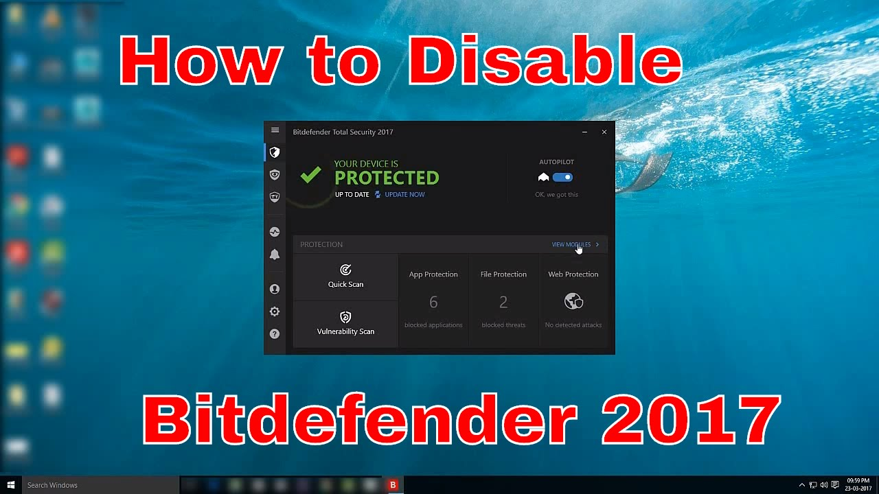 how to temporary disable bitdefender 2017