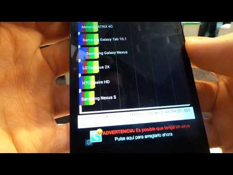 Archos 50c Oxygen Quadrant benchmark video | Tech2.hu