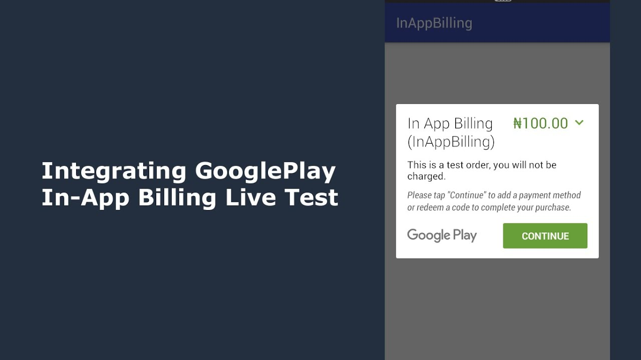 integrating google play in app billing into an android app live test youtube. Black Bedroom Furniture Sets. Home Design Ideas