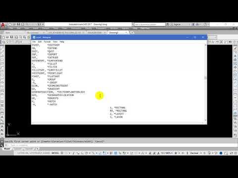 Đặt lệnh tắt trong AutoCAD