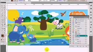 Видео урок по Adobe Illustrator - 10 - Слои