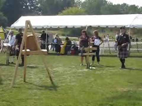 Wisconsin Highland Games axe throw, 2009