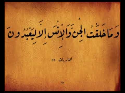 وما خلقت الجن والإنس إلا ليعبدون
