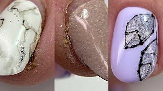 База которая носится у всех Как укрепить ногти Осенний дизайн ногтей Хрустальный листок Маникюр