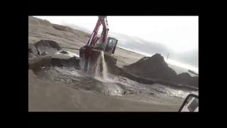Digging Out outflow after heavy rain