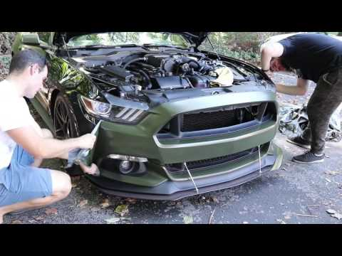 How To Peel Dipped Car   Halo EF-X   Liquid Wrap   Rogue   ROUSH Charged S550 Mustang