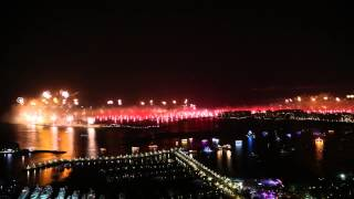 Dubai New Year 2014 with a view of Palm Jumeirah fireworks!