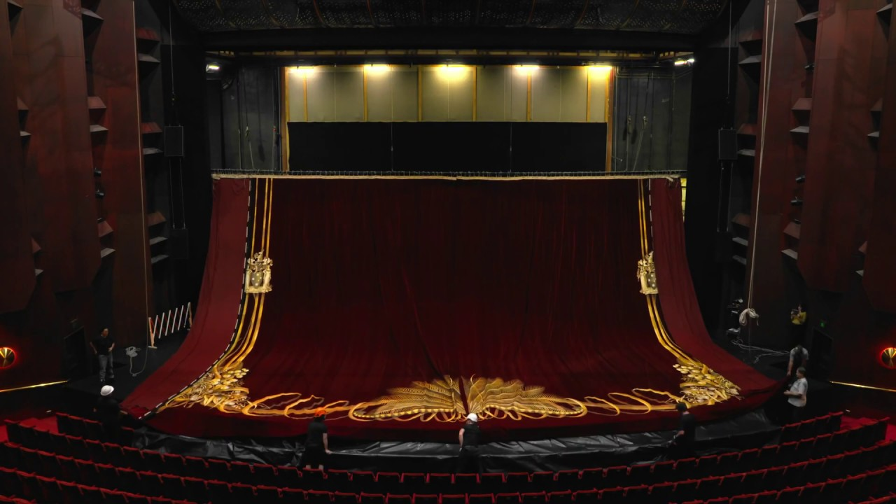 act drop state theatre curtain