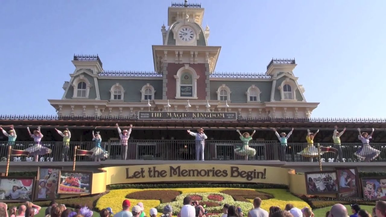 Magic Kingdom Welcome Show At Park Opening Walt Disney