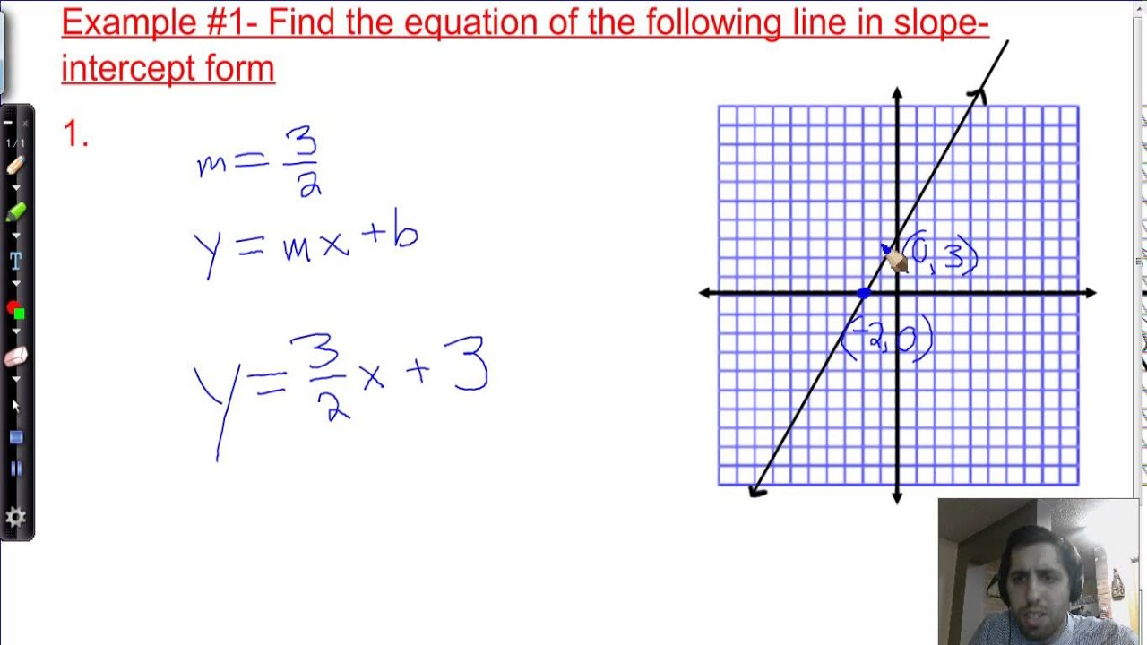 33 Equations In Slope Intercept Form 8th Grade
