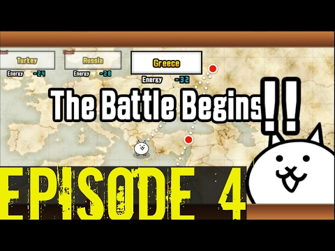 The Battle Cats | Empire of Cats Ch. 1 | Beating GREECE! | Episode 4