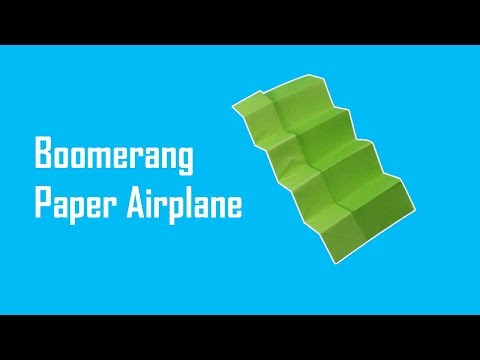 Origami Paper Boomerang Airplane 3.0 || Now It's Come Back Easily - Paper Toys | Foldable Flight