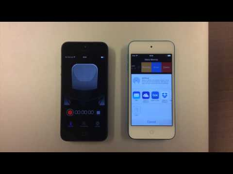 Voice Recorder HD : Use AirDrop to Share Audio File Between Two iOS Devices.