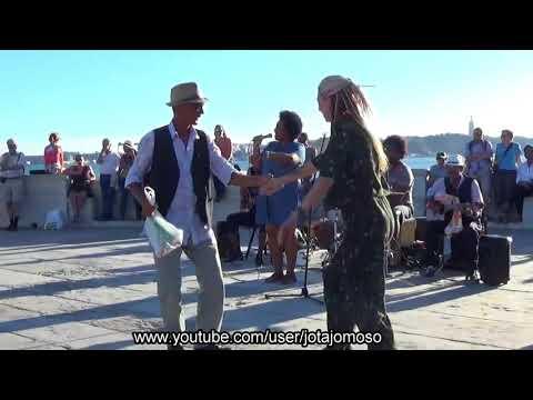 Street music band, Cabo Verde band Nôs Raíz in Lisbon.