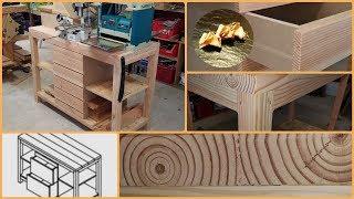 Établi en bois de  récupération diy Workbench