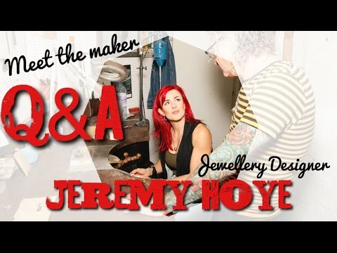 Q&A with jewellery designer Jeremy Hoye in his Brighton Workshop.