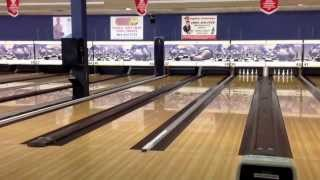 2014 Club Tour 5 Pin Bowling Final Part 1.  Game 1 of a two game total pins final. Cowen vs Young