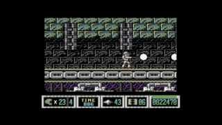 C64 Turrican II level 4-2 music w/gameplay