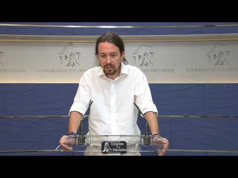 PABLO IGLESIAS (Podemos) valora el interrogatorio a RAJOY (26/07/2017)