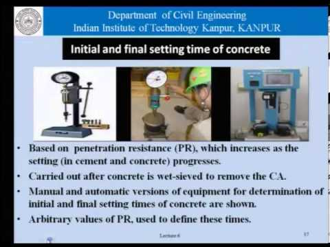 Mod-01 Lec-06 Basic properties of concrete