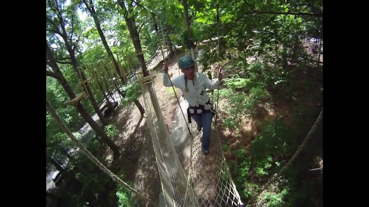 Zipstream Aerial Adventure At Ruby Falls Youtube