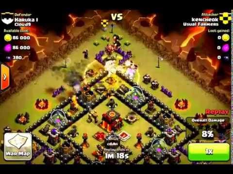 Clash Of Clans - GoGiWi Winning Raid Example