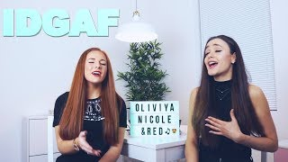 DUA LIPA - IDGAF COVER BY RED & OLIVIYA NICOLE