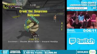 Tony Hawk's Underground 2 by Plumato in 21:17 - Awesome Games Done Quick 2016 - Part 65