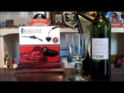 Pub Sheds **REVIEW** Baramigos.co.uk - Kingfisher Wine Aerator Bottle Pourer