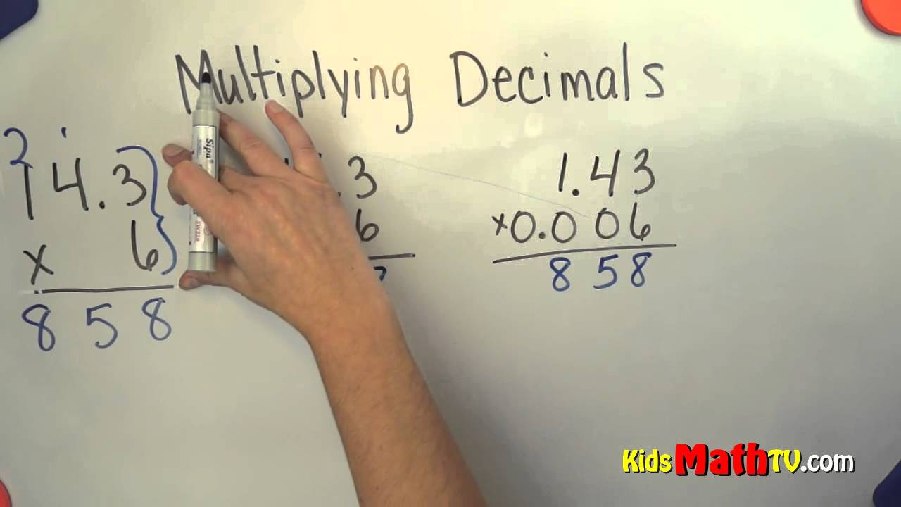 Multiplying Decimals Math Lesson For 4th 5th And 6th Grade Kids