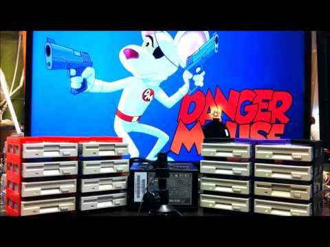 Danger Mouse Theme on 16 Floppy Drives