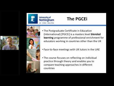 University of Nottingham PGCEi Middle East Webinar - 25 April 2018